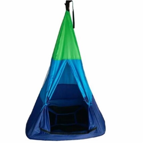 M&M Sales Enterprises MM00175 Outdoor Teepee Tent Swing Perspective: front
