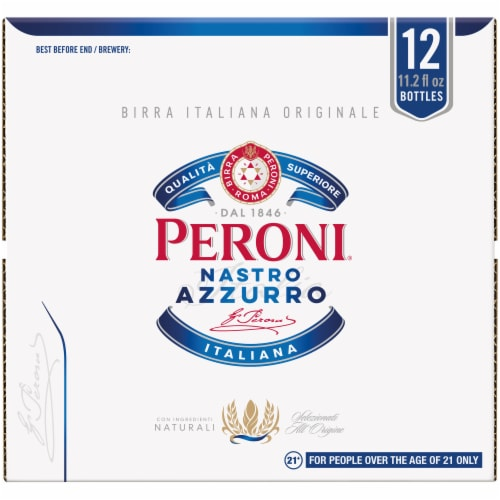 Peroni Nastro Azzurro International Pale Lager Beer Perspective: front