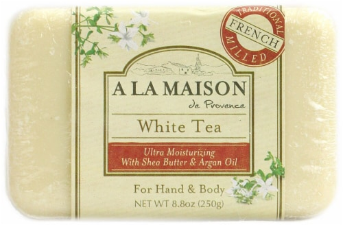 A La Maison Bar Soap White Tea Perspective: front