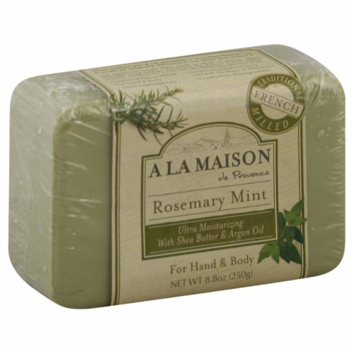 A La Maison Rosemary Mint Soap Perspective: front