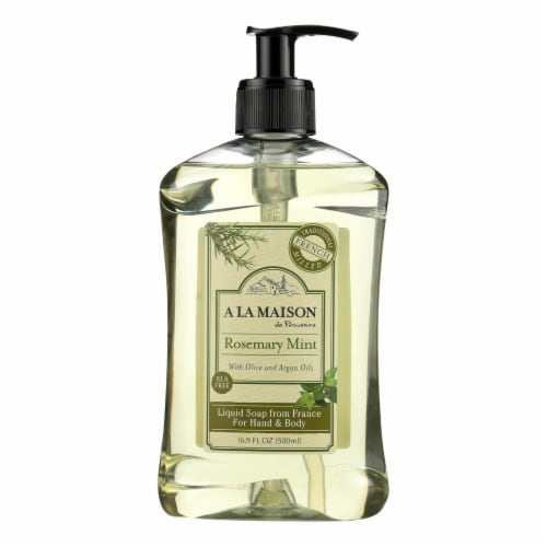 A La Maison Rosemary Mint French Liquid Soap Perspective: front