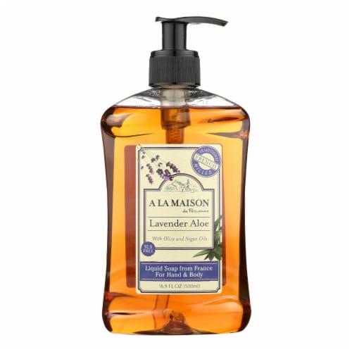 A La Maison de Provence Lavender Aloe French Liquid Soap Perspective: front