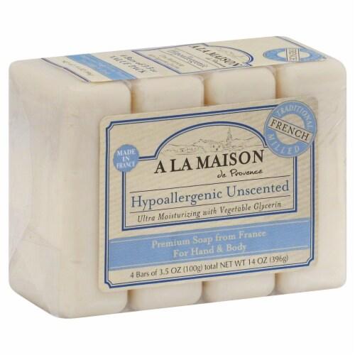 A La Maison Hypoallergenic Unscented Bar Soap Perspective: front