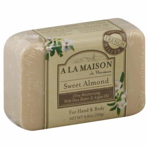 A La Maison Sweet Almond Soap Perspective: front