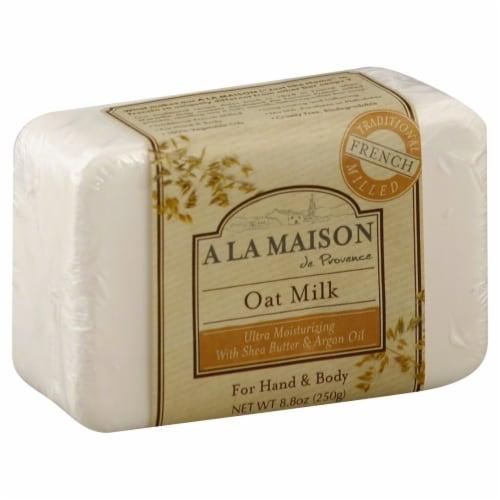 A La Maison Oat Milk Bar Soap Perspective: front