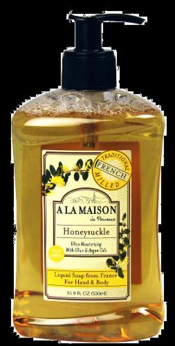 A La Maison Honeysuckle French Liquid Soap Perspective: front
