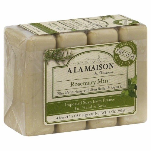 A La Maison Rosemary Mint Bar Soap Perspective: front