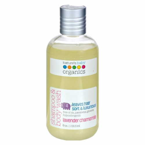 Nature's Baby Organics Shampoo and Body Wash Lavender Chamomile - 8 fl oz Perspective: front