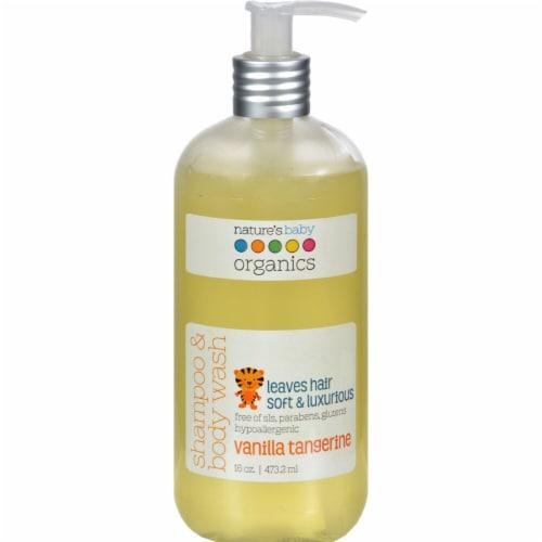 Nature's Baby  Organics Shampoo & Body Wash Vanilla Tangerine Perspective: front