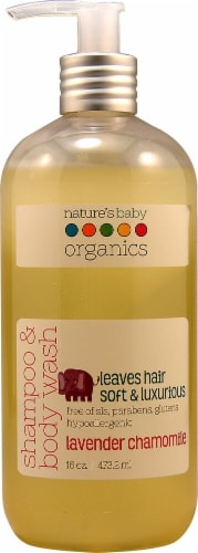Nature's Baby Organics Lavender Chamomile Shampoo & Body Wash Perspective: front