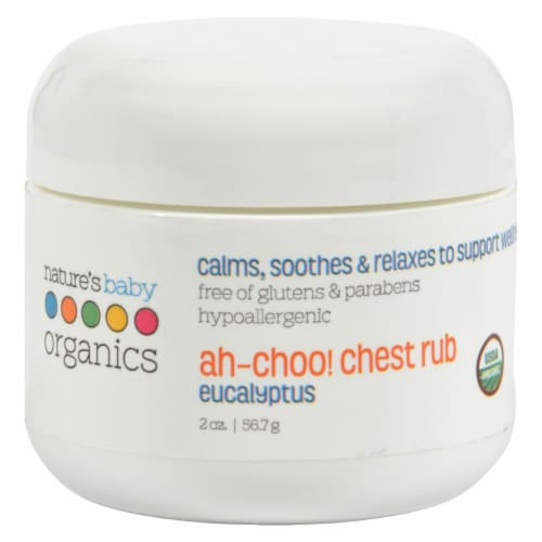Nature's Baby Organic Usda Organic Ah-choo Chest Rub Eucalyptus Perspective: front