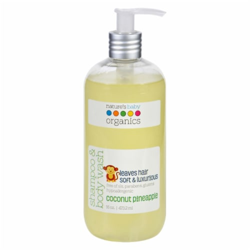 Nature's Baby Organics Shampoo and Body Wash - Coconut Pienapple - 16 oz Perspective: front