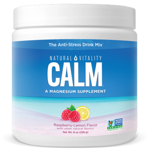 Natural Vitality Calm Raspberry Lemon Drink Mix Perspective: front