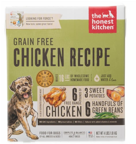 The Honest Kitchen  Force® Dehydrated Dog Food for Adult Dogs   Chicken Perspective: front