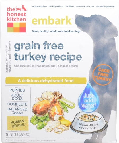The Honest Kitchen  Embark® Dehydrated Puppy and Adult Dog Food   Turkey Perspective: front