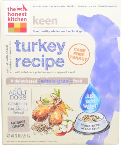 The Honest Kitchen Keen® Turkey Recipe Dehydrated Dog Food Perspective: front