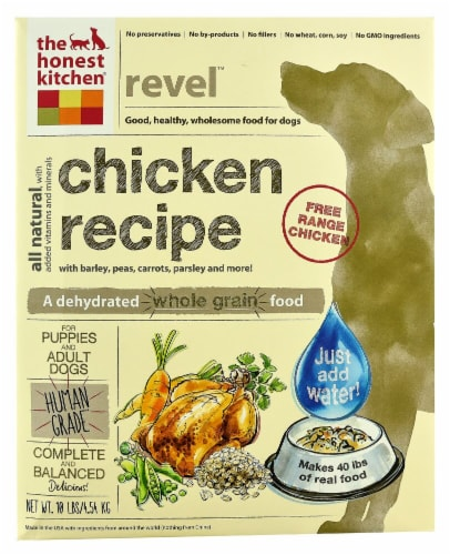 The Honest Kitchen  Revel® Dehydrated Dog Food for Puppies & Adult Dogs   Chicken Perspective: front