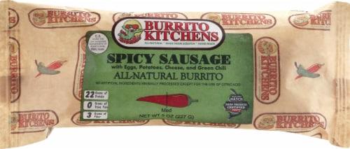 Burrito Kitchens Spicy Sausage & Egg Burrito Perspective: front