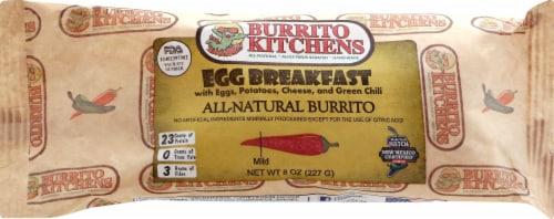 Burrito Kitchens Egg Potato and Cheese Breakfast Burrito Perspective: front