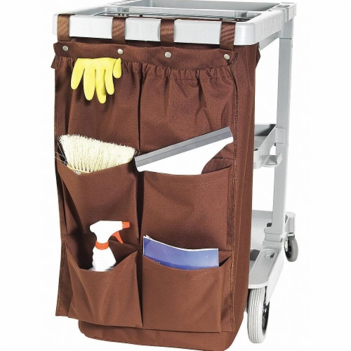 Sim Supply Caddy,Brown,Polyester, PVC Backing  CB6BR Perspective: front