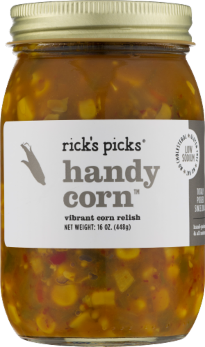 Rick's Picks Handy Corn Relish Perspective: front