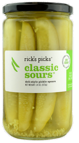 Rick's Picks Classic Sours Deli-Style Pickle Spears Perspective: front