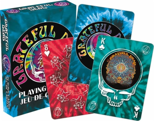 Grateful Dead Tie Dye Playing Cards | 52 Card Deck + 2 Jokers Perspective: front