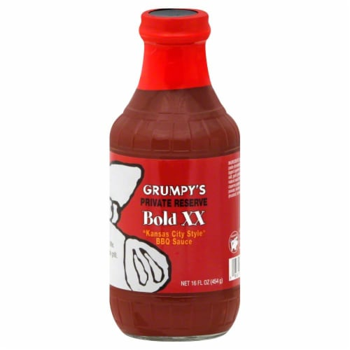 Grumpy's Bold XX BBQ Sauce Perspective: front