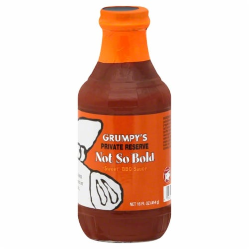 Grumpy's Not So Bold BBQ Sauce Perspective: front