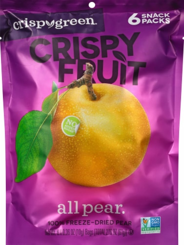 Crispy Green Crispy Fruit Freeze Dried Pears Perspective: front