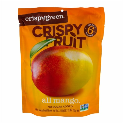 Crispy Green Crispy Fruit Freeze-Dried Mangoes Perspective: front