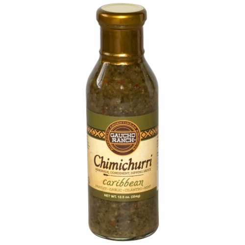 Gaucho Ranch Chimichurri Caribbean Dipping Sauce Perspective: front