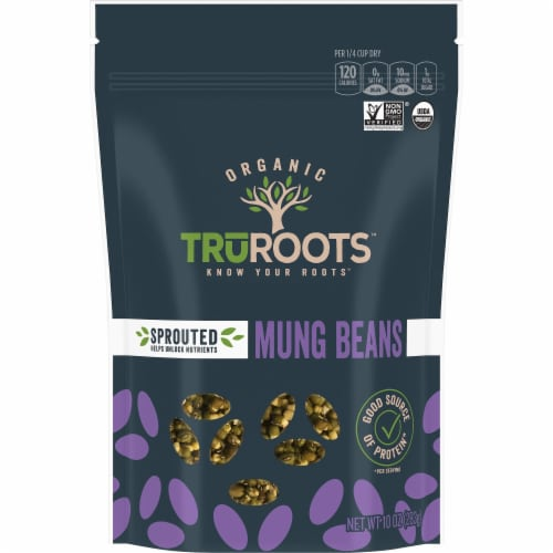 truRoots Organic Sprouted Mung Beans Perspective: front