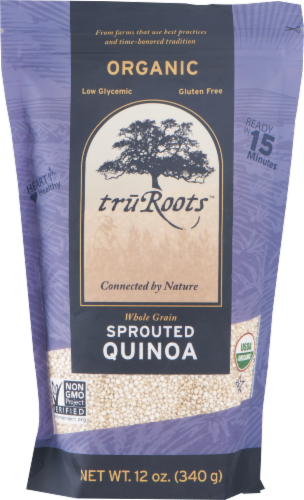 truRoots Organic Whole Grain Sprouted Quinoa Perspective: front