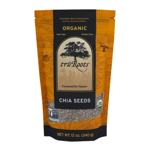 truRoots Organic Chia Seeds Perspective: front