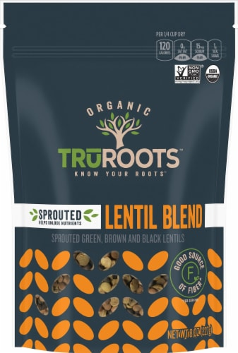 truRoots Accents Organic Sprouted Lentil Trio Perspective: front