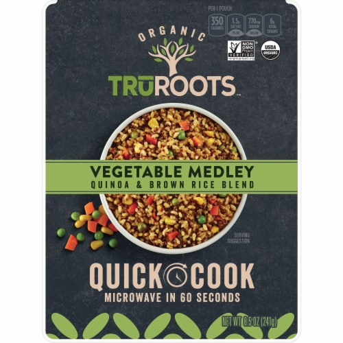 truRoots Organic Vegetable Medley Quinoa & Brown Rice Blend Quick Cook Meal Perspective: front