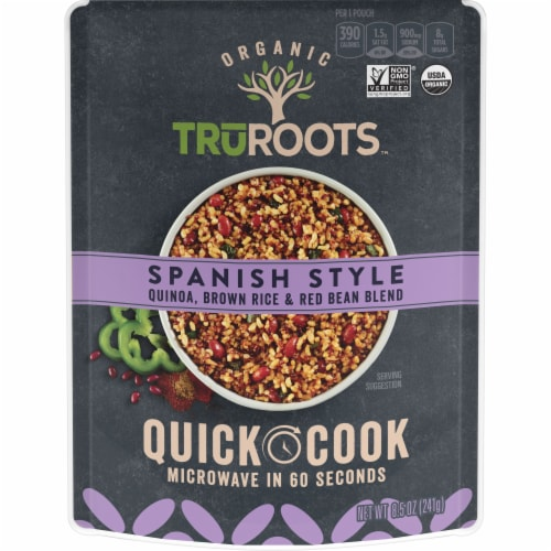 truRoots Quick Cook Spanish Style Quinoa Brown Rice and Red Bean Blend Perspective: front