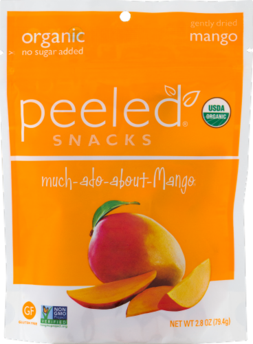 Peeled Snacks Organic Gently Dried Mango Perspective: front