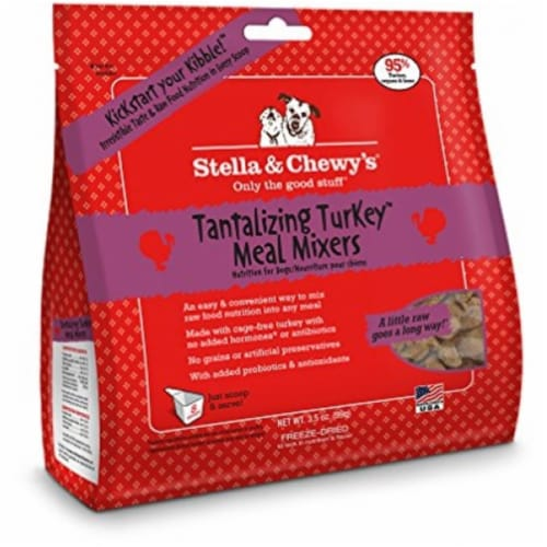 PF 84000044 3.5 oz Freeze Dried Turkey Meal Mixers - 8 per Case Perspective: front