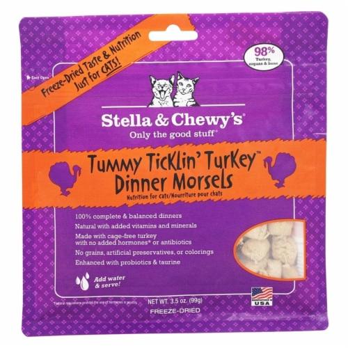 PF 84000114 3.5 oz Freeze Dried Tummy Ticklin Turkey Cat - 8 per Case Perspective: front