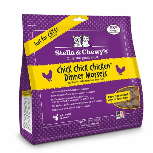 PF 84000123 18 oz Stella & Chewys Freeze Dried Dinner Morsels for Cats Chick Chick Chicken - Perspective: front