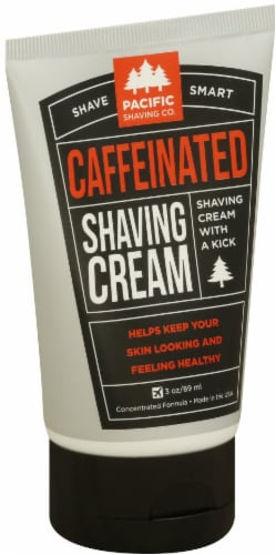 Pacific Shaving Co. Caffeinated Shaving Cream Perspective: front
