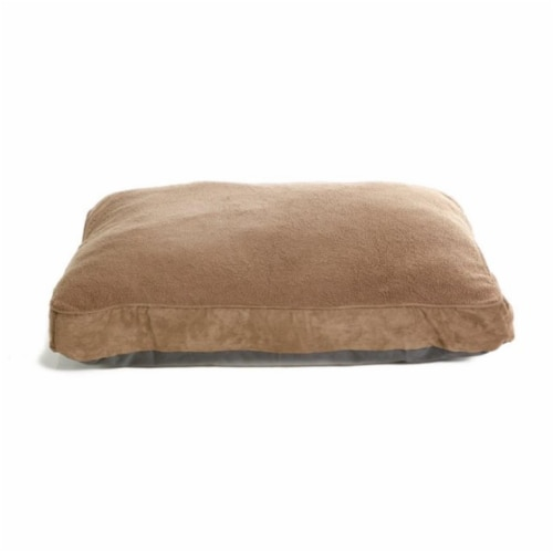 Furhaven Large Brown Pet Bed Pillow Perspective: front