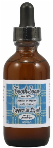 Tooth Soap  Peppermint Liquid Perspective: front