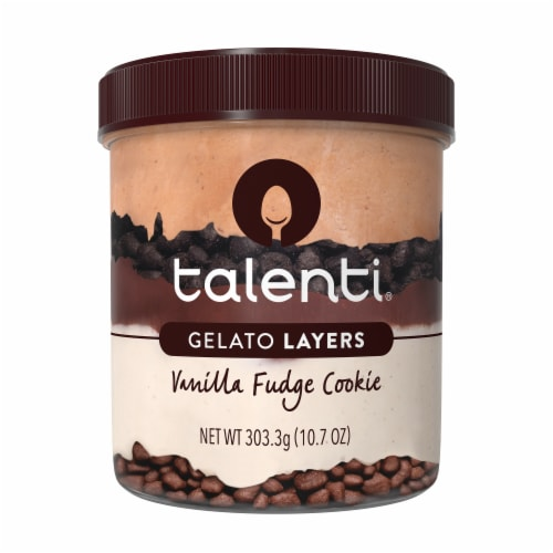 Talenti Gelato Layers Vanilla Fudge Cookie Ice Cream Perspective: front