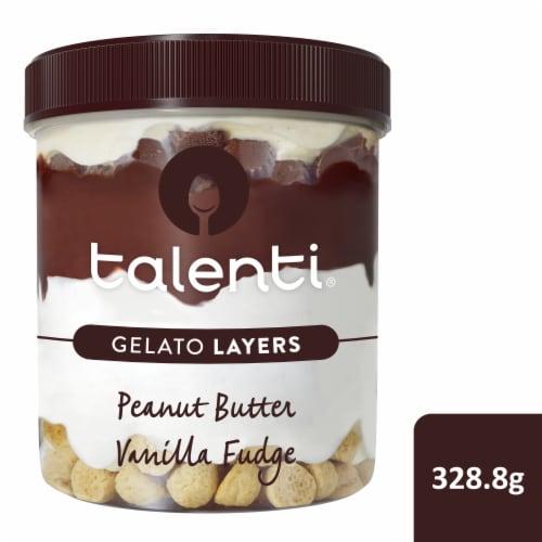 Talenti Gelato Layers Peanut Butter Vanilla Fudge Gelato Perspective: front