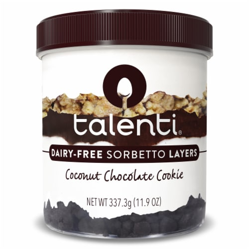 Talenti Non-Dairy Sorbetto Layers Coconut Chocolate Cookie Ice Cream Perspective: front