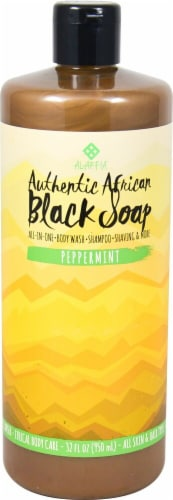 Alaffia African Peppermint Black Soap Perspective: front