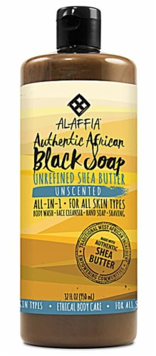 Alaffia  Authentic African Black Soap Unscented Perspective: front